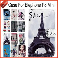 Wholesale Track Phone Cases - AiLiShi Hot!!! In Stock For Elephone P8 Mini Case Fashion Flip PU Leather Case Exclusive 100% Special Phone Cover Skin+Tracking