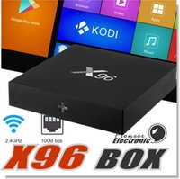 Wholesale Marshmallow Wholesale - wholesale X96 Android TV box Amlogic S905X Quad Core Android 6.0 4K Marshmallow RAM 1GB 2GB ROM 8GB 16GB Wifi HDMI DLNA with Retail Box