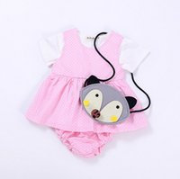 Wholesale Toddlers Polka Dots Dresses - Baby Girls princess outfits INS toddler kids polka dots vest dress + cotton short 2pcs sets 2017 summer fashion new kids clothes T2252