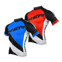 Wholesale merida cycle tops - Merida Cycling Jersey Men s Reflective Bike Cycle Jersey Shirts Top Blue Red