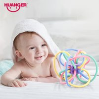 Dhgate Новейшая детская игрушка Rattle Teether Mobile 0-12month Little Loud Bell Ball Grasping Fun Hand Shake Developmental Gift