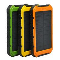 mah power bank solar al por mayor-Batería universal de 20000 mah Banco de energía solar a prueba de agua Cargador solar para exteriores Cargador solar para todos los teléfonos móviles Carga rápida