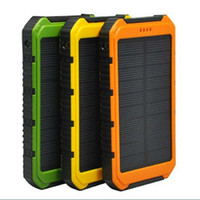 Wholesale Wholesale Solar Phone Charger Universal - Universal 20000mah battery Waterproof solar power bank Outdoors solar charger powerbank for all mobile phone