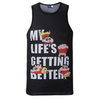 Wholesale Men Surfing Shirt - 3D My Lifes Getting Better Street Hip Hop men's summer tank tops Beach Surf gym bodybuilding basketball tank jersey sleeveless tee shirts