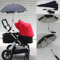 chuva guarda chuva uv venda por atacado-Guarda-sóis do bebê Parasol Pram Pushchair Protect Sun Chuva Universal UV 360 Graus de Direção Ajustável Pram Guarda-chuva Umbrella Stroller