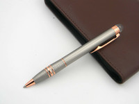 Wholesale Note Mesh - Chrome mesh with Rose Golden Clip Metal Ballpoint Pen