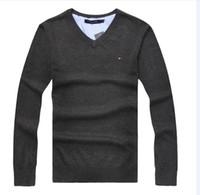 marcas britânicas venda por atacado-2018 inverno ritmo warming o-uk itália marca nova moda masculina t-shirt único fio stoned laço camisola gola redonda 7 tamanho da cor S-2XL