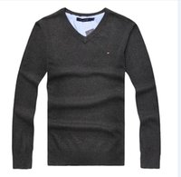 ingrosso filato di marca-2018 Winter tempo warming o-uk Italia brand new Moda uomo T-shirt single filato loop looped maglione girocollo 7 taglie colore S-2XL