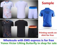 Wholesale Printing Text - Wholesale EMS for free, Text printing for free, new badminton shirt clothes table tennis T sport shirt clothes 3016