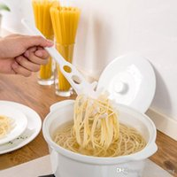 Wholesale Measuring Eggs - New Creative multifunction drain pasta fork mein spoon measuring tool  egg white separator home&restaurant&hotel cooking Tools