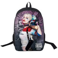 Wholesale Custom School Backpacks - Wholesale- Custom Made Backpack Shoulderbag Pencil Bag Anime Suicide Squad Harley Quinn Joker Games TV Show Animal Boys Bags Girls School