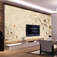Wholesale insulation soundproofing materials - European Vintage Wall Murals Marble Wall Non-woven Material TV Sofa Background for Study Household Decor Wall Painting Wallpaper