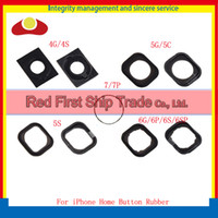 Wholesale Home Button Gasket Iphone 4s - For iPhone 4 4G 4S 5 5S 5C 6 Plus 6S Plus 7 Plus Home Button Holding Gasket Rubber Spacer With Adhesive Sticker