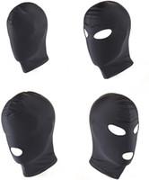 Wholesale Spandex Bondage - Spandex Hood Mask with Mouth and Eye Opening Fetish Bondage