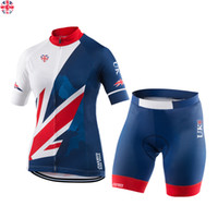 Wholesale Cycling Jerseys Uk - UK LOVE Women NEW 2017 Classical mtb road RACE Team Bike Pro Cycling Jersey Sets Shorts Clothing Breathing Air JIASHUO Customized