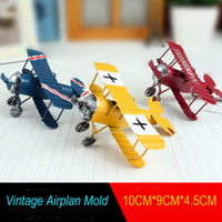 Wholesale Vintage Metal Plane Model Iron Retro Airplane Decoration Crafts Figures Miniatures Airplane Model Toy Aircraft Model Styles OOA2360