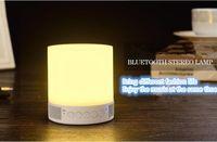 Wholesale Small Music Speakers Usb - Bluetooth speaker LED desk lamp wireless portable multifunctional music lamp creative mini card bass gun small sound