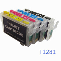 Wholesale Epson Sx235w - T1281 T1284 128 refillable ink cartridge for EPSON S22 SX125 SX130 SX235W SX420W SX425W SX435 445 BX305F printers with ARC chips