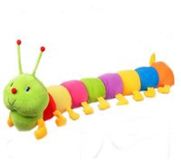 Wholesale Stuffed Animal Caterpillars - Cute colorful caterpillar design baby plush toys stuffed animals toys children gifts large insect doll