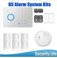Wholesale Touch Gsm Alarm Access - LS111- 208kit 315MHZ Chuango G5 Touch Keypad GSM SMS Wireless Home Security Burglar Alarm System RFID Access Control 315MHZ