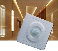 Wholesale 2pcs mm square led light and energy saving light or Incandescent lights PC sensor switch