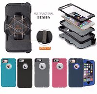 Wholesale Iphone Hard Case Holster Clip - Defender Series Hard Rugged Cases with Holster Belt Clip High Impact Hybrid Back Cover For iPhone X 10 8 7 6S plus Samsung Galaxy Note8 S8 7