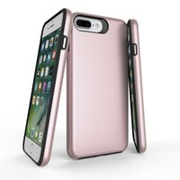 Wholesale Iphone Rigid Case - Unique Rigid Texture Rugged Hybrid Back Cover Slim PC TPU Armor Phone Case For Iphone X 8 7 6s Plus Samsung s8 Plus LG G6 With OPPBAG