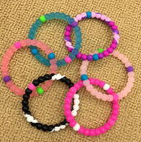 Wholesale Silicone Bracelet Balance - Kids silicone balance bracelet S M L XL 53 colors wholesale silicone bands with tag for children and adult