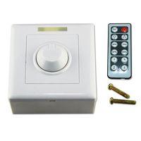 Wholesale Installation Key - free shipping External installation Screw DC 12V 24V 8A IR Remote LED Light Dimmer 12 Key Adjustable Brightness Control