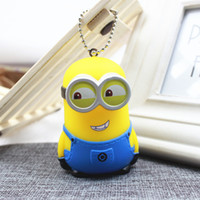 Wholesale Minion Toys Free Shipping - Minions keychain bag pendant car decoration toys 100pcs wholesale DHL free shipping