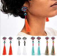 Wholesale long cheap earrings - 2017 Hot long Tassel Earring Cheap Women Dangle Drop Earrings Femme Statement Earrings Fringe Brincos Boucle jewelry Christmas gift