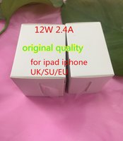 Wholesale Apple 12w Usb Power Adapter - 50Pcs AAAA quality 5V 2.4A Power adapter US EU UK plug Fast Charging 12W charger USB Adapter For iPad iPhone,with retail box