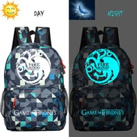 Wholesale Light Purple Canvas Backpack - Game of Thrones bagbackpack Travel Backpack students youth schoolbag