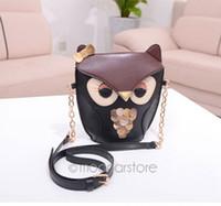Wholesale Fox Messenger Bags - Women Messenger Bag Purses Peekaboo Mini Shoulder Bag Cute Cartoon Popular Fox Owl Print Handbag