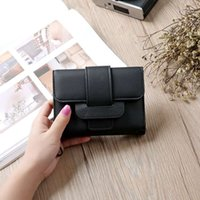 Wholesale Hot Girl Leather Bag - 2017 Hot Selling! Luxury Soft Leather Women Hasp Wallet Fashion Tri-Folds Clutch For Girls Coin Purse Card Holders Money Bag