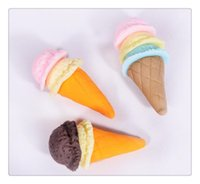 Wholesale Ice Cream Modeling Rattan Cake Hot Sale Jumbo kawaii Squishy Slow Rising Pendant Phone Straps Charms Kid Toys Cute squishies Ice Cream