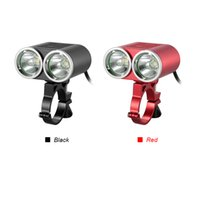 Wholesale Super Light Handlebar - Waterproof Bicycle Light Front Handlebar USB Bike Light 2400 Lumens Super Bright LED Cycling Safety Flashlight Double Lights
