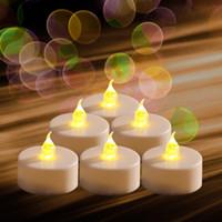 батареи для светодиодных свечей оптовых-6PCS LED Tealight с батарейным питанием мерцание мерцание беспламенный чай свечи свет для свадьбы День рождения Рождество дома