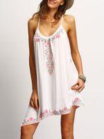 mini mulher sexy curta venda por atacado-Robe femme summer dress para as mulheres boho sexy mulheres vestidos de praia dress fora do ombro mangas mulheres vestidos curto