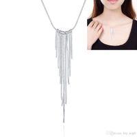 Wholesale Wicker Wholesalers - 2016 New Silver Plated Necklace Fashion Jewelry Bohemian Tassel Wicker Chain Long Pendant Necklace Women Statement Accessory Beauty Fashion