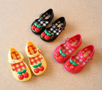 Wholesale Fragrance Baby - 2017 girl Shoes For kids New Limited Strap Baby Rubber Mini SED Cute Cherry Sandals Children BirdsSummer with Fragrance