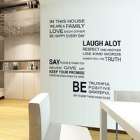 Wholesale Family Bathrooms - we are family Walls Stickers Plane Wall Sticker PVC Modern Style Design Wall Stickers Modern Wall Stickers