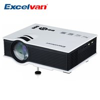 Wholesale 3d Dlp Projector - Wholesale-Excelvan UC40+ Mini Pico Portable 3D Projector HDMI Home Theater Beamer Multimedia Proyector Full HD 1080P Video Beam