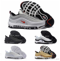 Wholesale Mens Lace Up Casual Shoes - 2016 Mens Fashion 97 Running Shoes Cheap Air Sole Cushions Sports Basketball Casual Shoes Eur 40-46