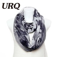 Wholesale Winter Infinity Scarfs Wholesale - Wholesale- 2016 Winter Tube scarvess Fashion Chinese Artist Style Print Women Soft Cotton Infinity scarves V8A9215