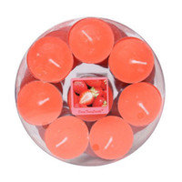 Wholesale tea lights candles wax online - aroma candle scented fragrance candle wax tea lights romantic candle strawberry mango burning time hours