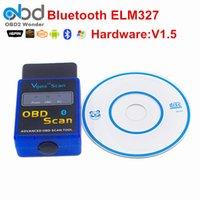 Wholesale Holden Scan - MINI ELM 327 Bluetooth Vgate Scan OBD2   OBDII ELM327 V1.5 Bluetooth Diagnosytic Code Scanner tool For Free Shipping