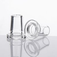Wholesale Inline Adapter - Mini Glass Adapter 14.5mm 18.8mm 14mm Female To 18mm Male Clear Mouth Short Adapters Inline Downpipe Bong Connector 179