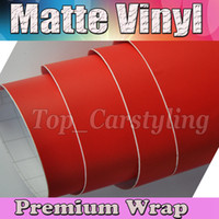 Wholesale Vinyl Wrap Matte Red - Red Matte Car Wrap Film With Air Bubble Free Matt Vinyl For Vehicle Wrapping Body Covers foil Vinyle 1.52x30m Roll (5ftx98ft)