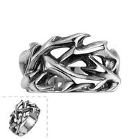 Wholesale Skulls Punk Rock Rings - 2017 fashion brand vintage skull rings jewelry men ring 316L stainless steel Punk Rock aneis GOMAYA